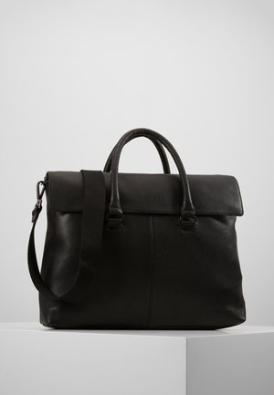LEATHER UNISEX - Aktówka - black