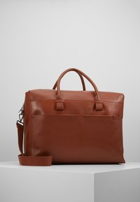 Zign - UNISEX LEATHER - Weekendbag - dark brown - 0