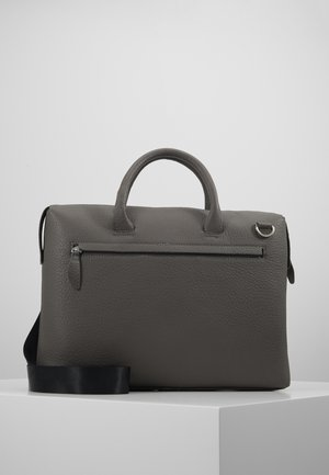 LEATHER - Laptop bag - grey
