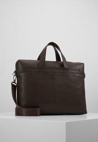 Zign - LEATHER - Briefcase - dark brown - 0
