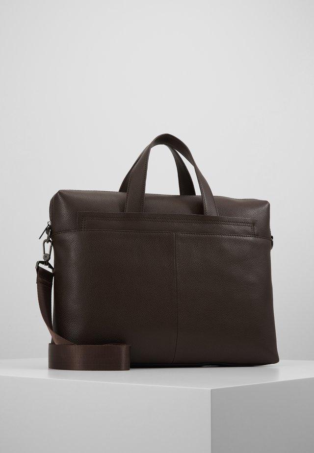 LEATHER - Briefcase - dark brown