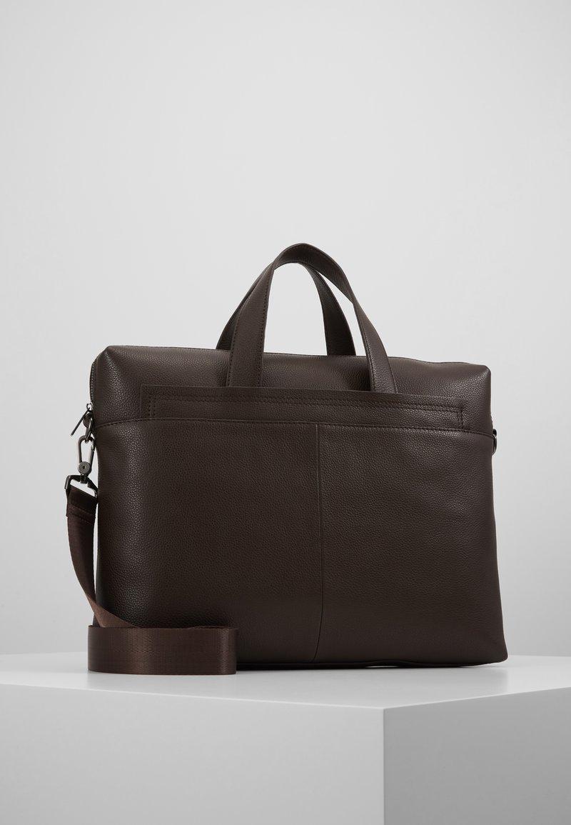 Zign - LEATHER - Briefcase - dark brown