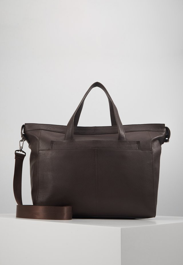 UNISEX LEATHER - Viikonloppukassi -  dark brown