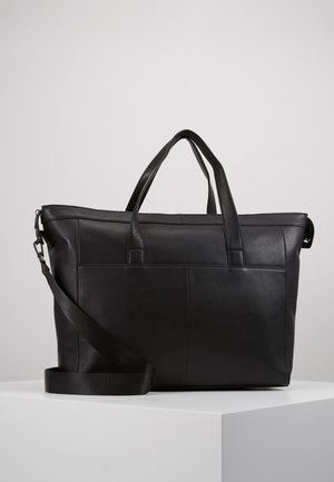 UNISEX LEATHER - Weekend bag - black