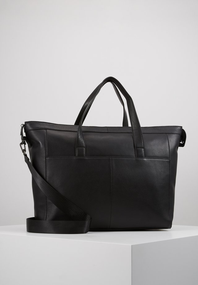 UNISEX LEATHER - Weekendbag - black