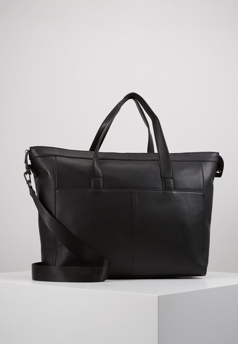 Zign - UNISEX LEATHER - Weekend bag - black