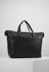 Zign - UNISEX LEATHER - Weekend bag - black - 3