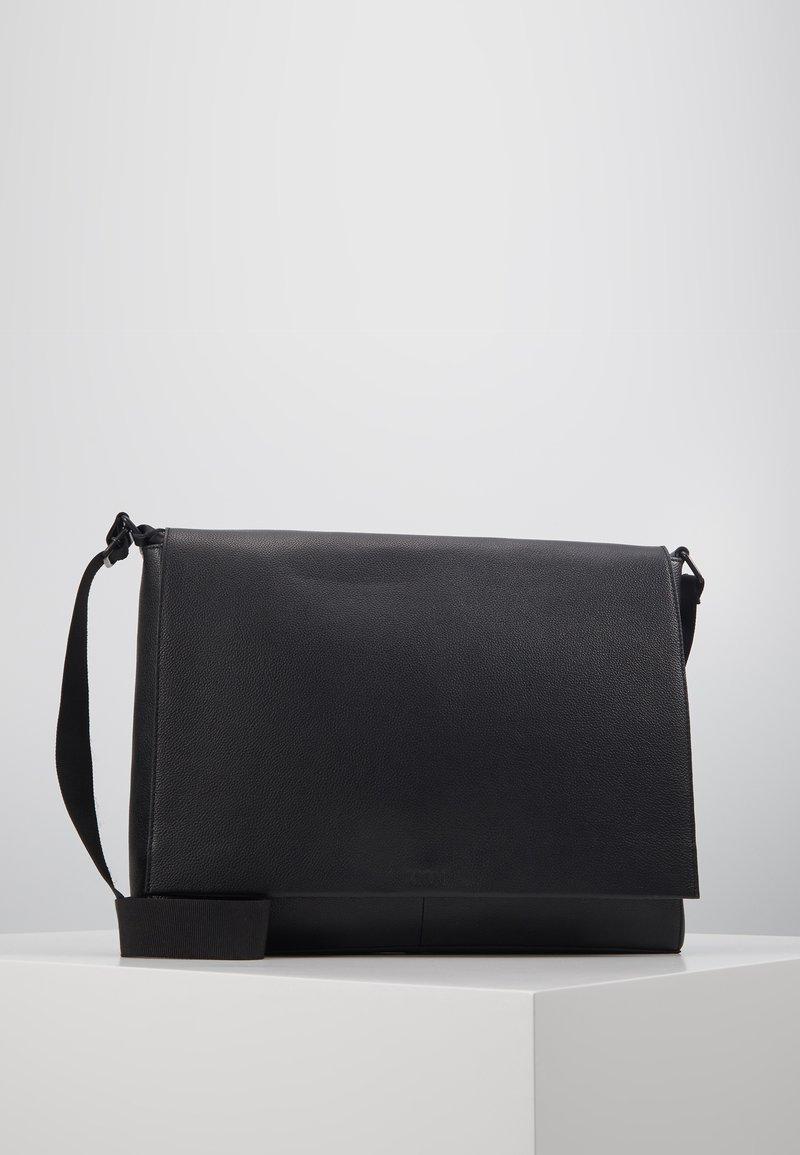 Zign - LEATHER - Across body bag - black