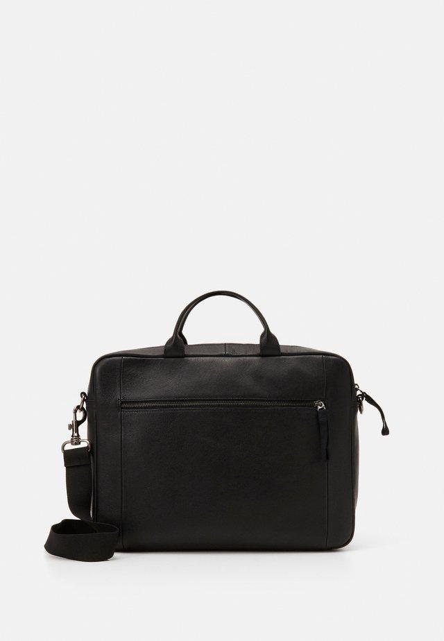 LEATHER - Notebooktasche - black