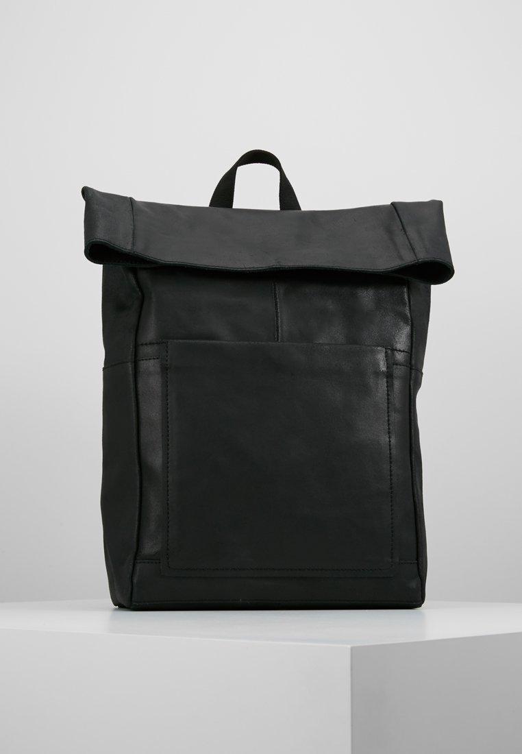 Zign - LEATHER - Rucksack - black