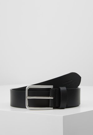 UNISEX LEATHER - Pásek - black/silver-coloured