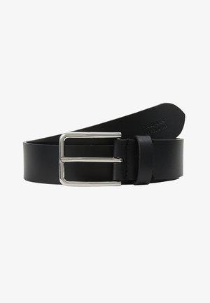 UNISEX LEATHER - Pásek - black/silver-coloured