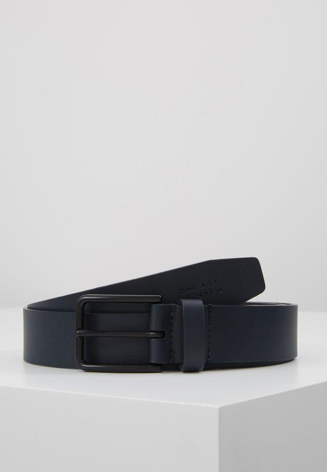 UNISEX LEATHER - Bælter - dark blue