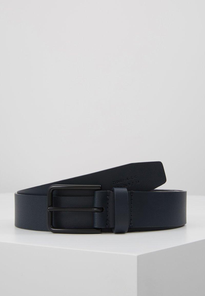 Zign - UNISEX LEATHER - Belt - dark blue