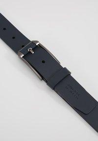 Zign - UNISEX LEATHER - Belt - dark blue - 5