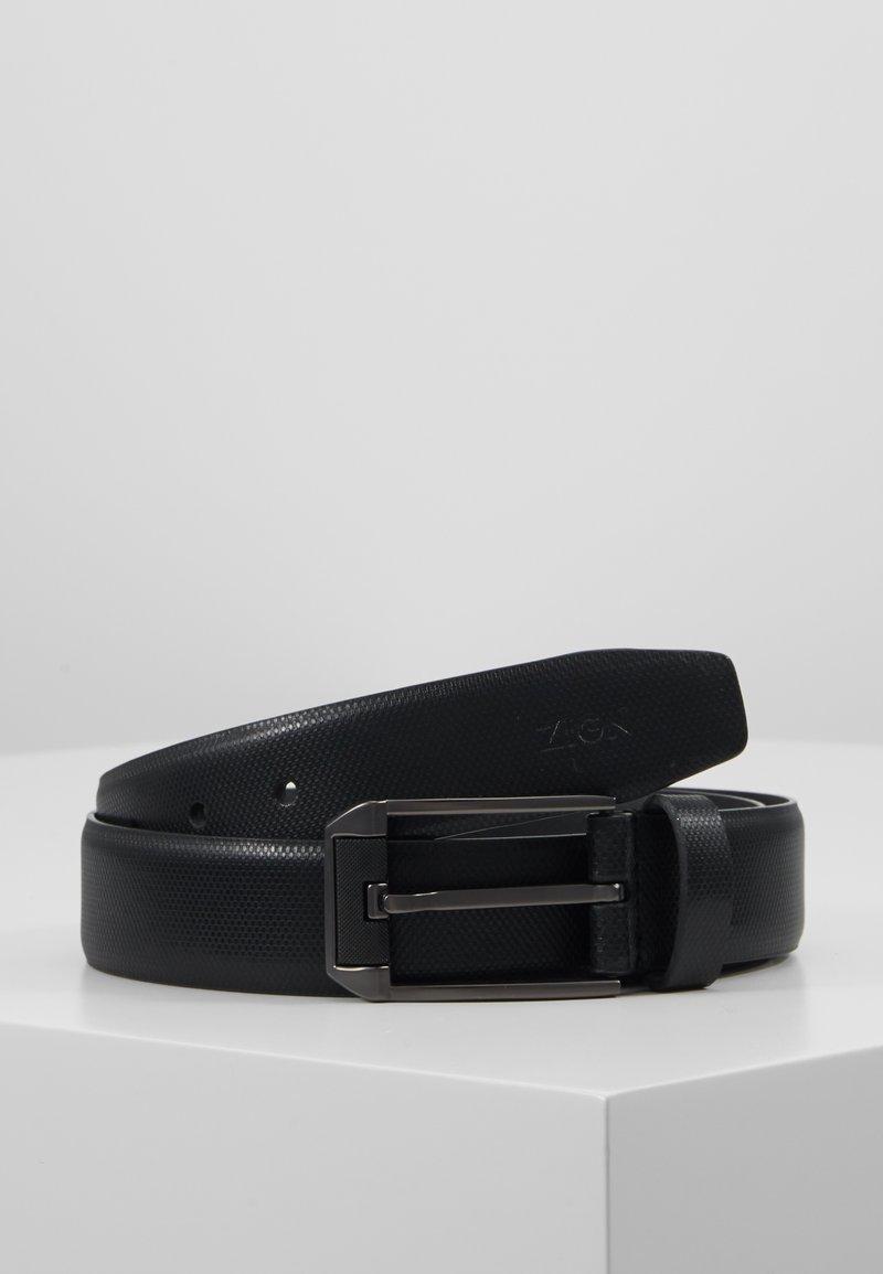 Zign - UNISEX LEATHER - Cinturón - black