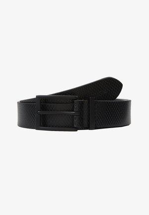 UNISEX LEATHER - Belt - black