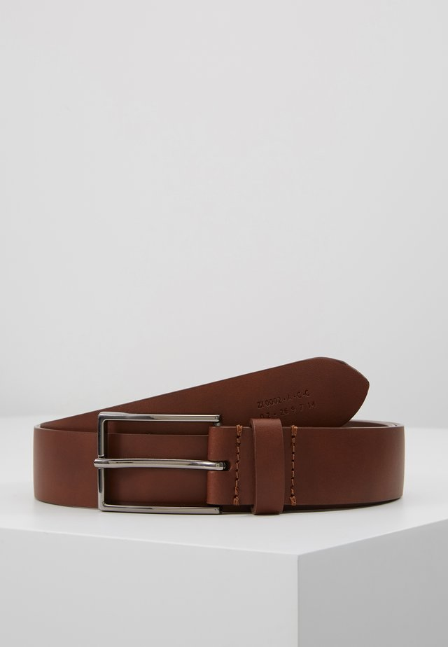 UNISEX LEATHER - Belt - tan