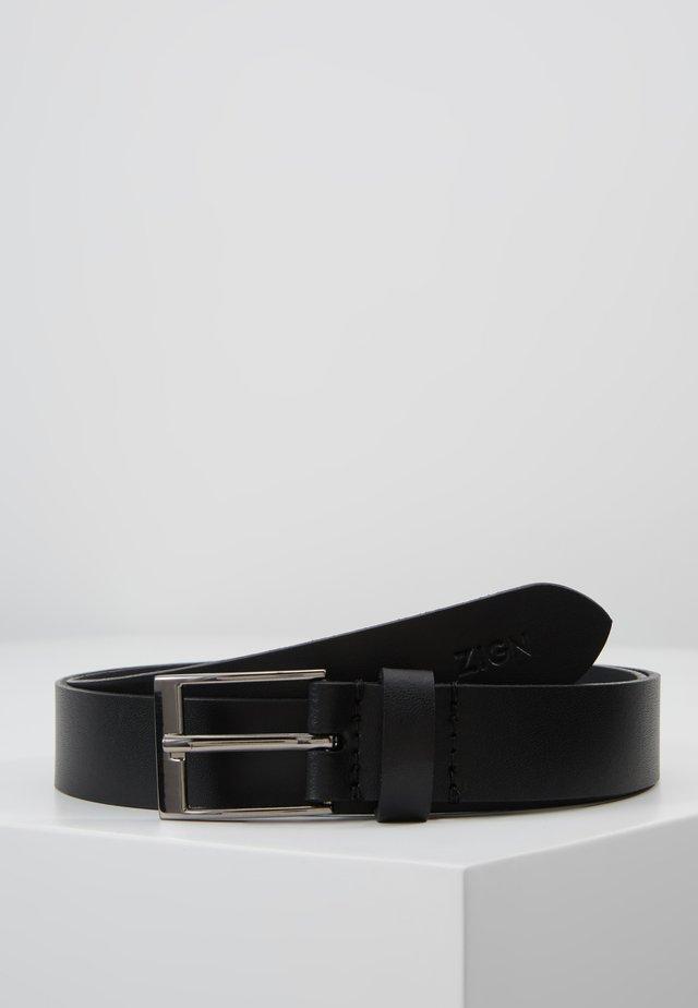 LEATHER - Gürtel - black