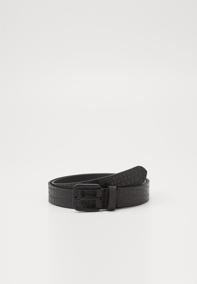 UNISEX LEATHER - Belt - black