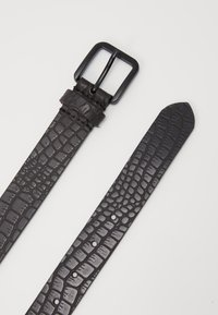Zign - UNISEX LEATHER - Belt - black - 3