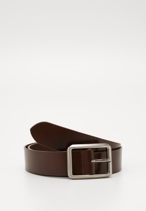 UNISEX LEATHER - Belt - brown