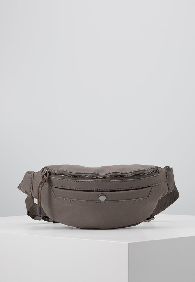 UNISEX LEATHER - Bum bag - dark gray