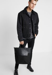 Zign - UNISEX LEATHER - Tote bag - black - 1
