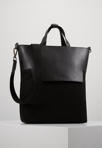 Zign - UNISEX LEATHER - Tote bag - black - 0