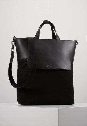 UNISEX LEATHER - Tote bag - black