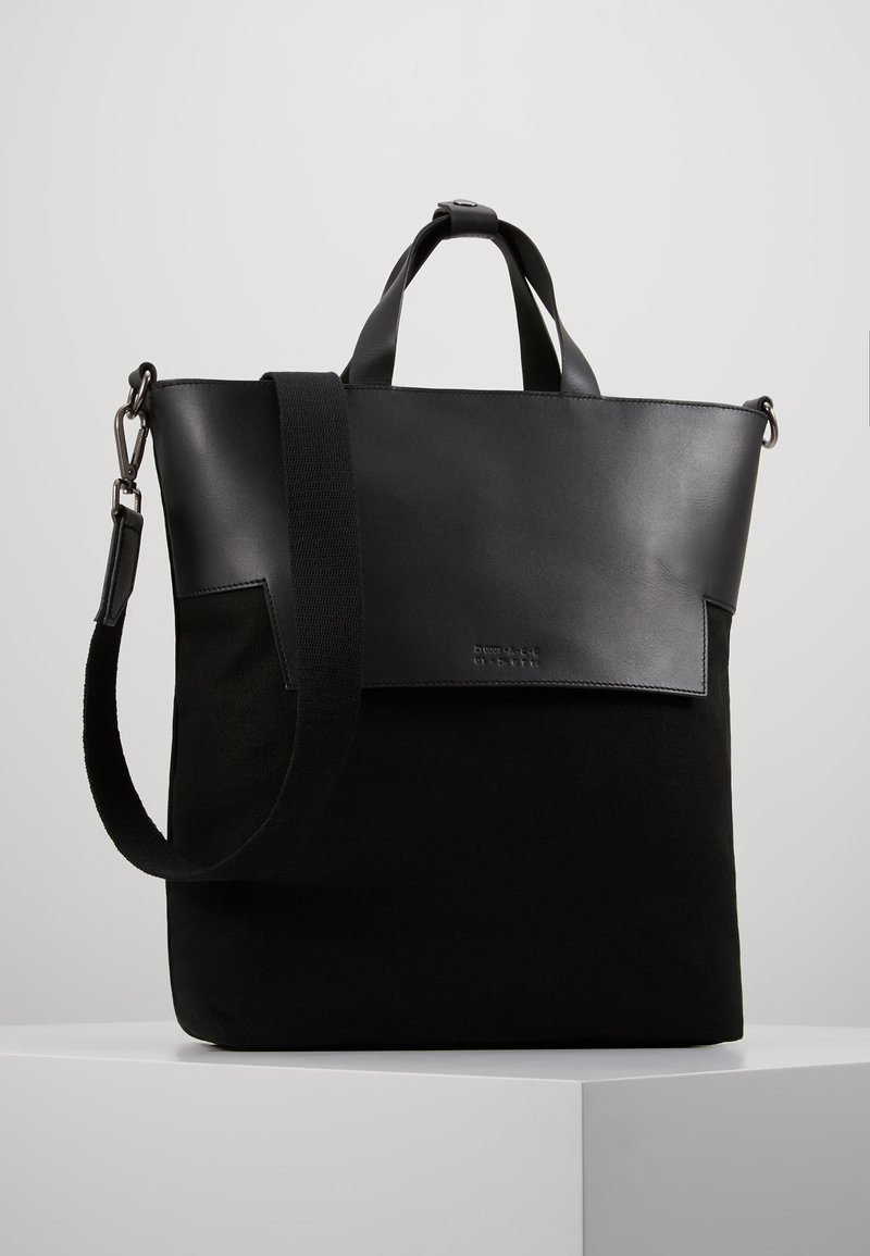 Zign - UNISEX LEATHER - Tote bag - black