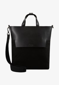 Zign - UNISEX LEATHER - Tote bag - black - 6