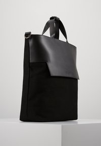 Zign - UNISEX LEATHER - Tote bag - black - 3