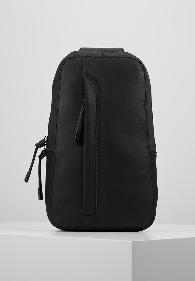 UNISEX LEATHER - Across body bag - black