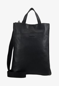 Zign - UNISEX LEATHER - Shoppingveske - black - 6