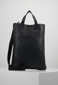 Zign - UNISEX LEATHER - Shoppingveske - black - 0