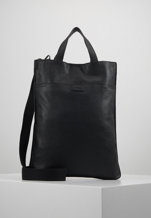 UNISEX LEATHER - Shopping bag - black