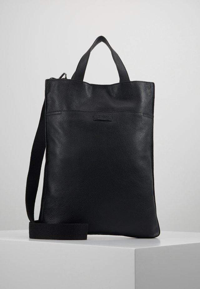 UNISEX LEATHER - Shopping bag - black