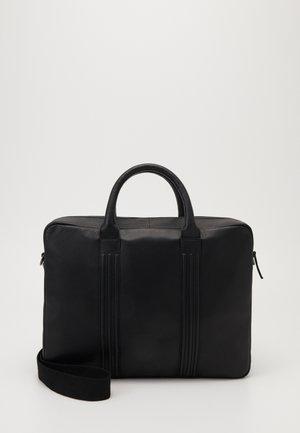 UNISEX LEATHER - Briefcase - black