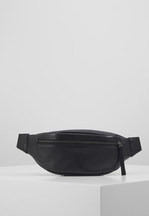 UNISEX LEATHER - Vyölaukku - black