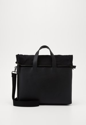 UNISEX LEATHER - Laptop bag - black