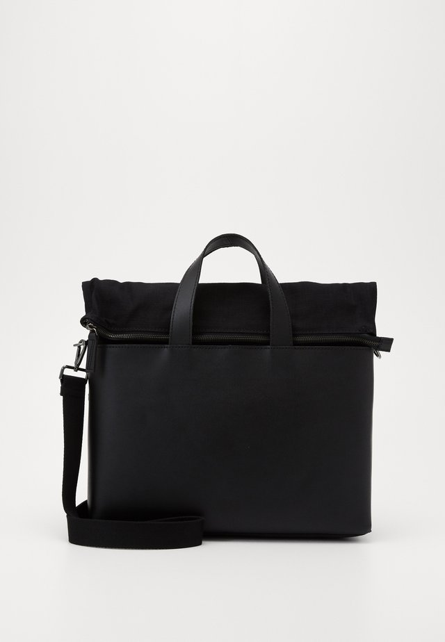 UNISEX LEATHER - Sac ordinateur - black