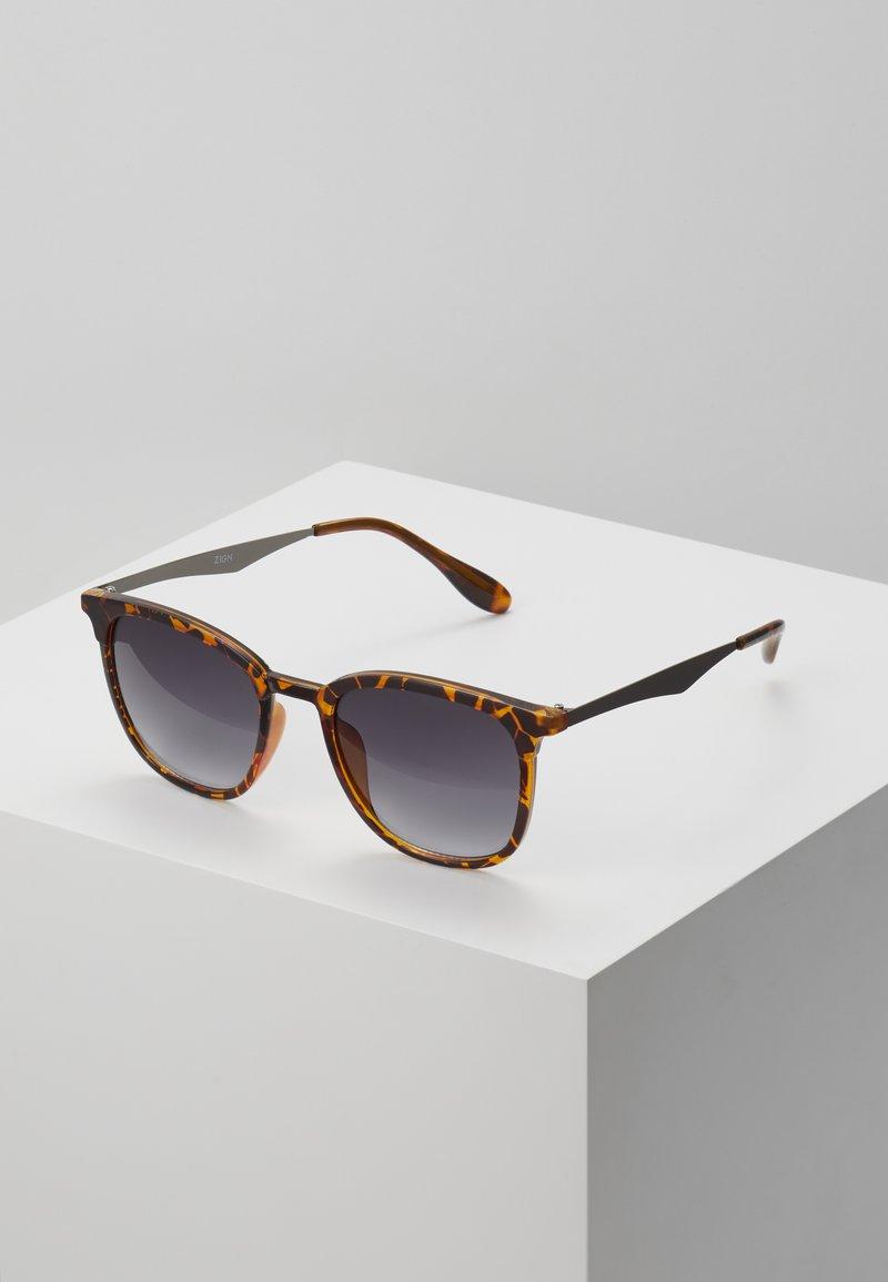 Zign - UNISEX - Sunglasses - brown/black
