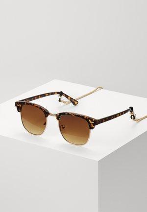 Set mit Brillenkette - Lunettes de soleil - brown/gold-coloured