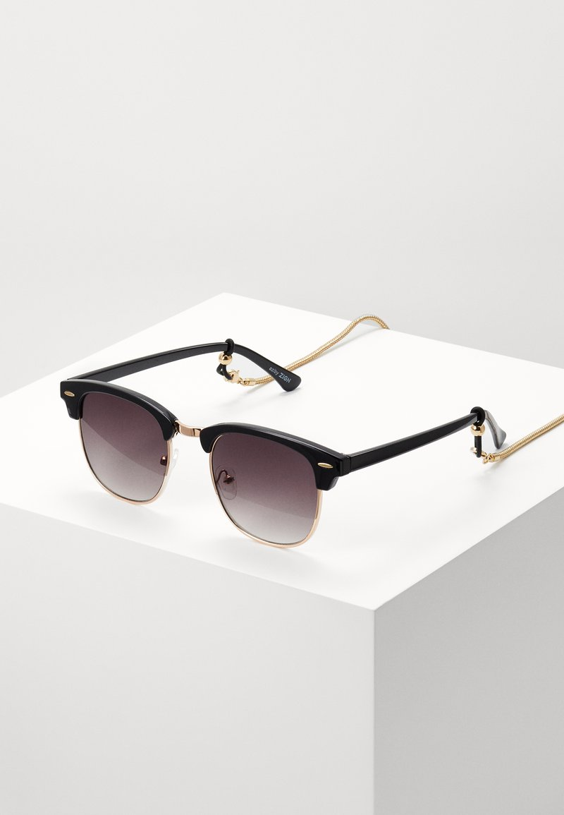 Zign - Set mit Brillenkette - Sunglasses - black/gold-coloured