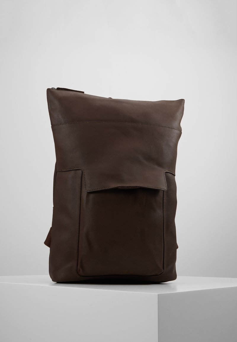 Zign - LEATHER - Ryggsäck - dark brown