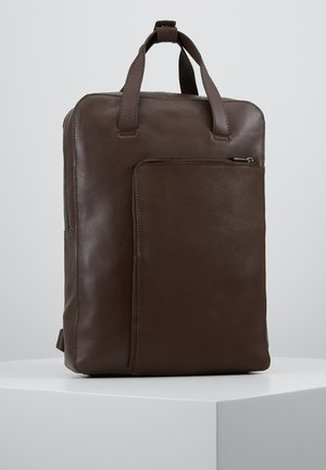 UNISEX LEATHER - Rucksack - dark brown