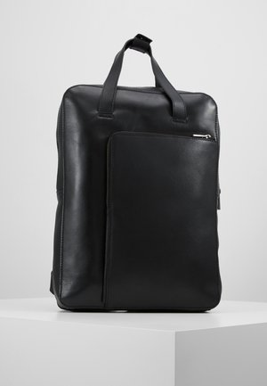 UNISEX LEATHER - Rugzak - black