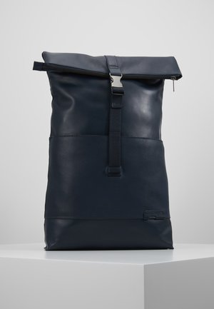 UNISEX LEATHER - Rucksack - dark blue