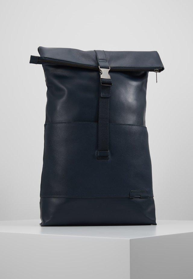 UNISEX LEATHER - Tagesrucksack - dark blue